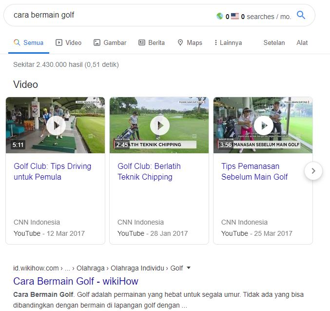 cara bermain golf - Faktor penentu SEO