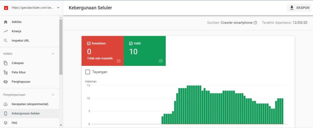 """Periksa laporan """"Kegunaan Seluler"""" di Google Search Console. Faktor penentu SEO"""