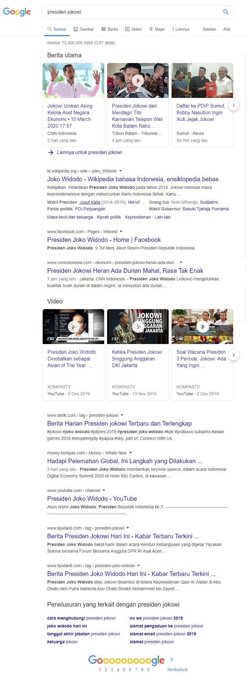 Kesegaran Konten - Presiden Jokowi - faktor penentu SEO