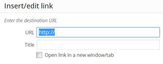 pengaturan link pada postingan